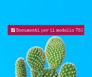 un cactus: documenti per il modello 730