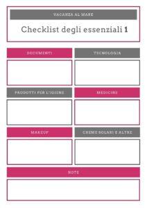infografica checklist degli essenziali