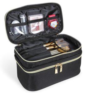 beauty case con scomparti per organizzare i cosmetici