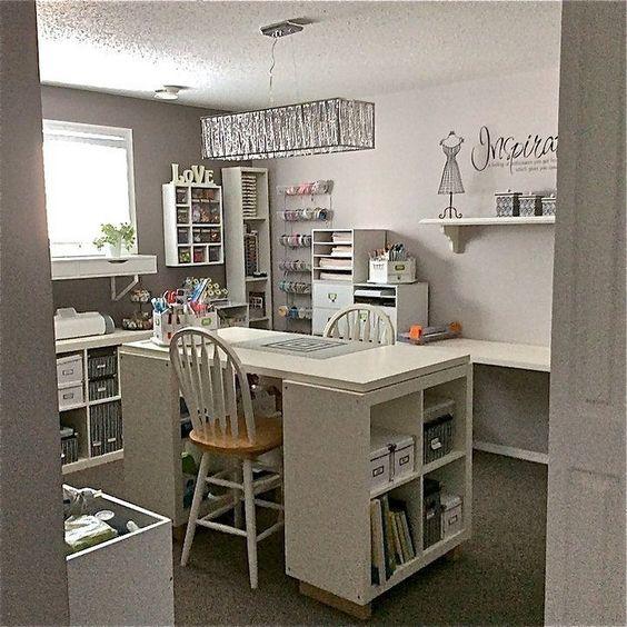 una craft room ben organizzata
