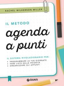 copertina libro di organizzazione personale il metodo agenda a punti