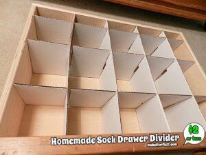 organizer per cassetti diy con cartone