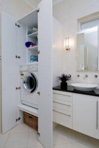 mobile contenitore per nascondere la lavatrice