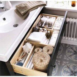 cassetto sotto lavabo bagno ben organizzato