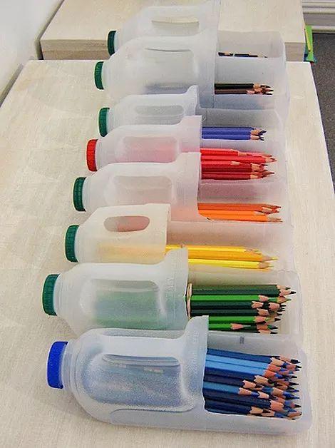 fare portapenne con plastica riciclata
