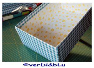 scatola di cartone rivestita