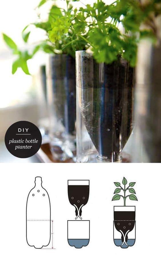 fare vaso autoirrigante con bottiglia di plastica riciclata