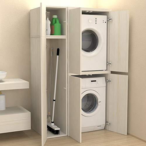 mobile contenitore per nascondere lavatrice-asciugatrice e scope