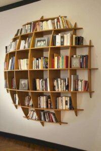 libri come elemento d'arredo